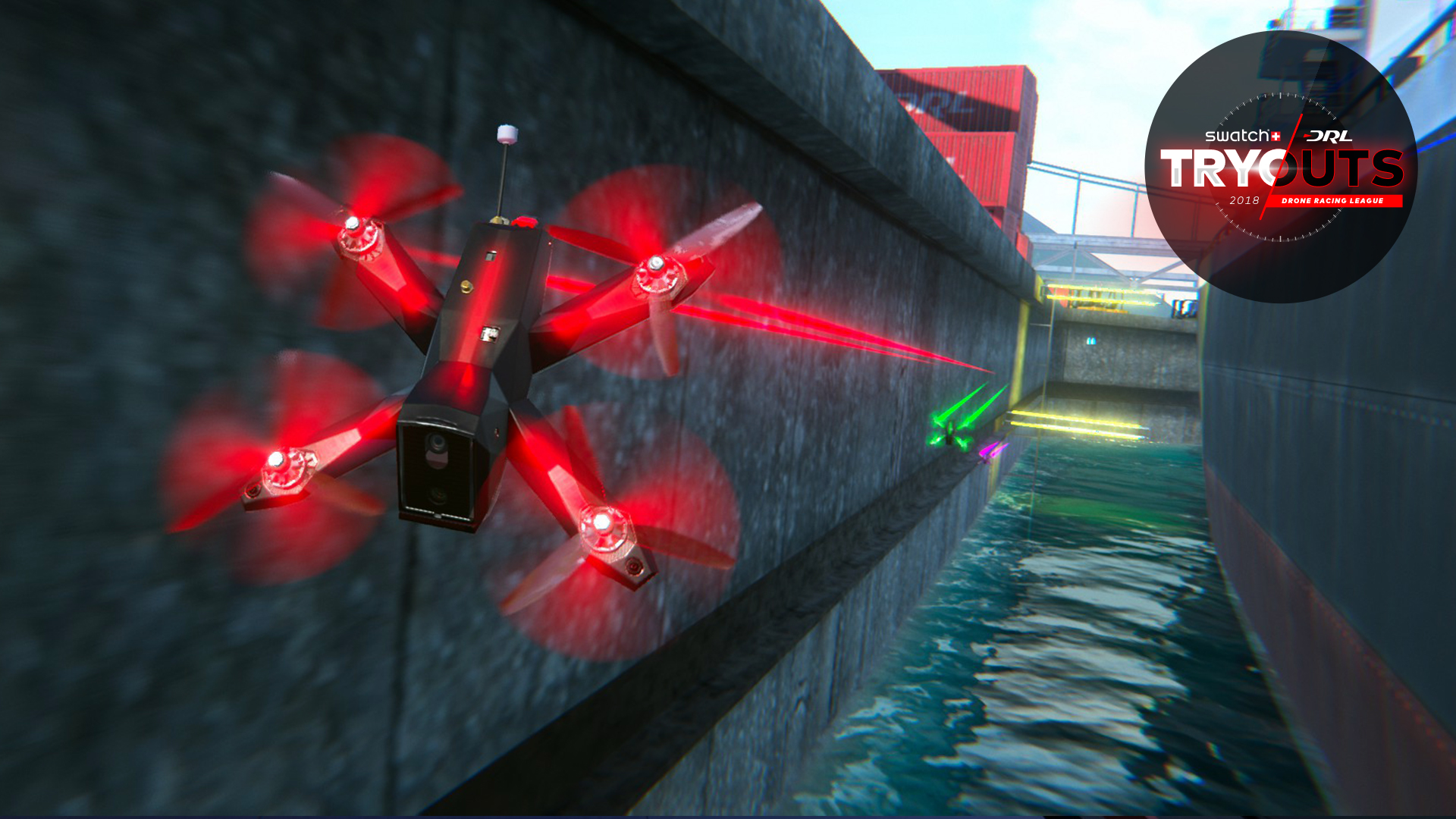 drone racing league simulator and tryouts