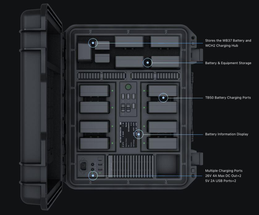 DJI Battery Station is a waterproof case for pros - WeTalkUAV Com