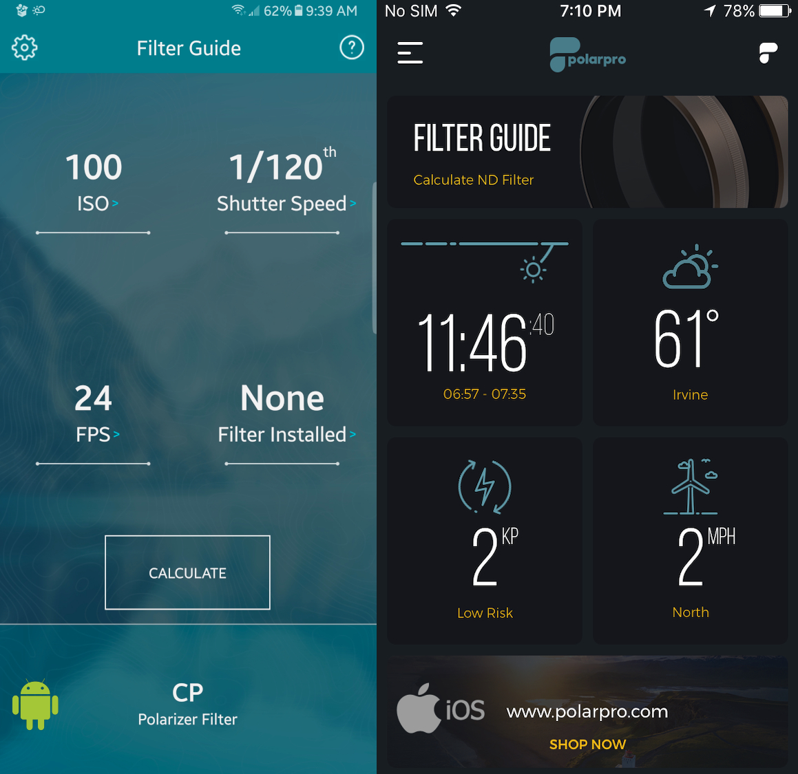Free Polarpro App Calculates Nd Filters And More