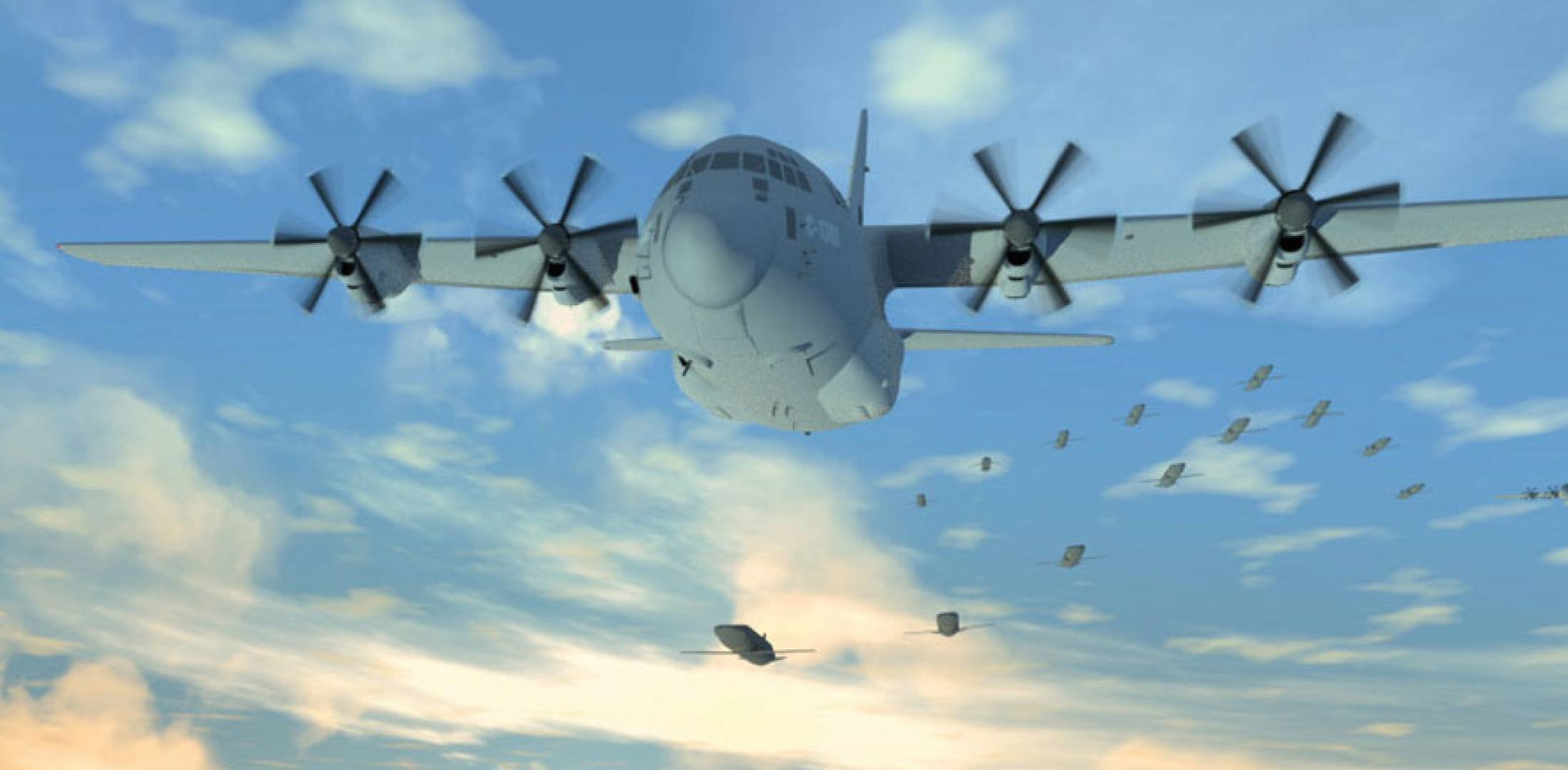 DARPA's Gremlins to Launch & Recover Four Drones From C-130 by Next Year ile ilgili görsel sonucu