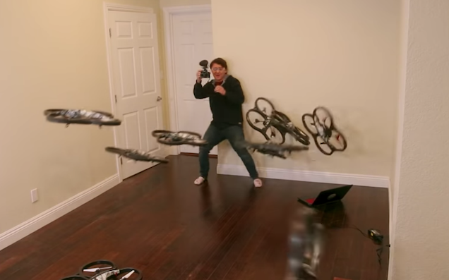 Here's what happens when a YouTuber programs a drone swarm to attack